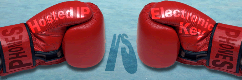 Hosted IP Phones v Electronic Key Phones. It's a knockout!